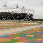 Colourful London Olympics bridge completed image
