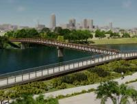 Construction begins of Iowa footbridge image