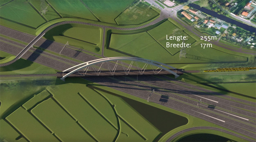 Construction process for the Muiderberg railway bridge in the Netherlands image