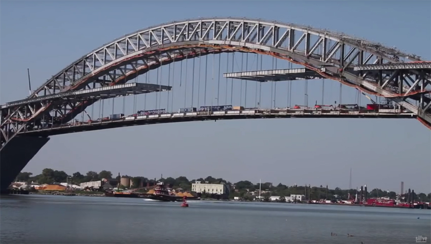 Current progress on Bayonne Bridge 'raise the roadway' project image