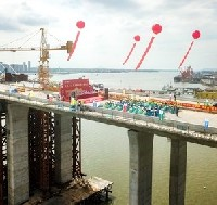 Deck closure completed for Shuidong Bay Bridge    image