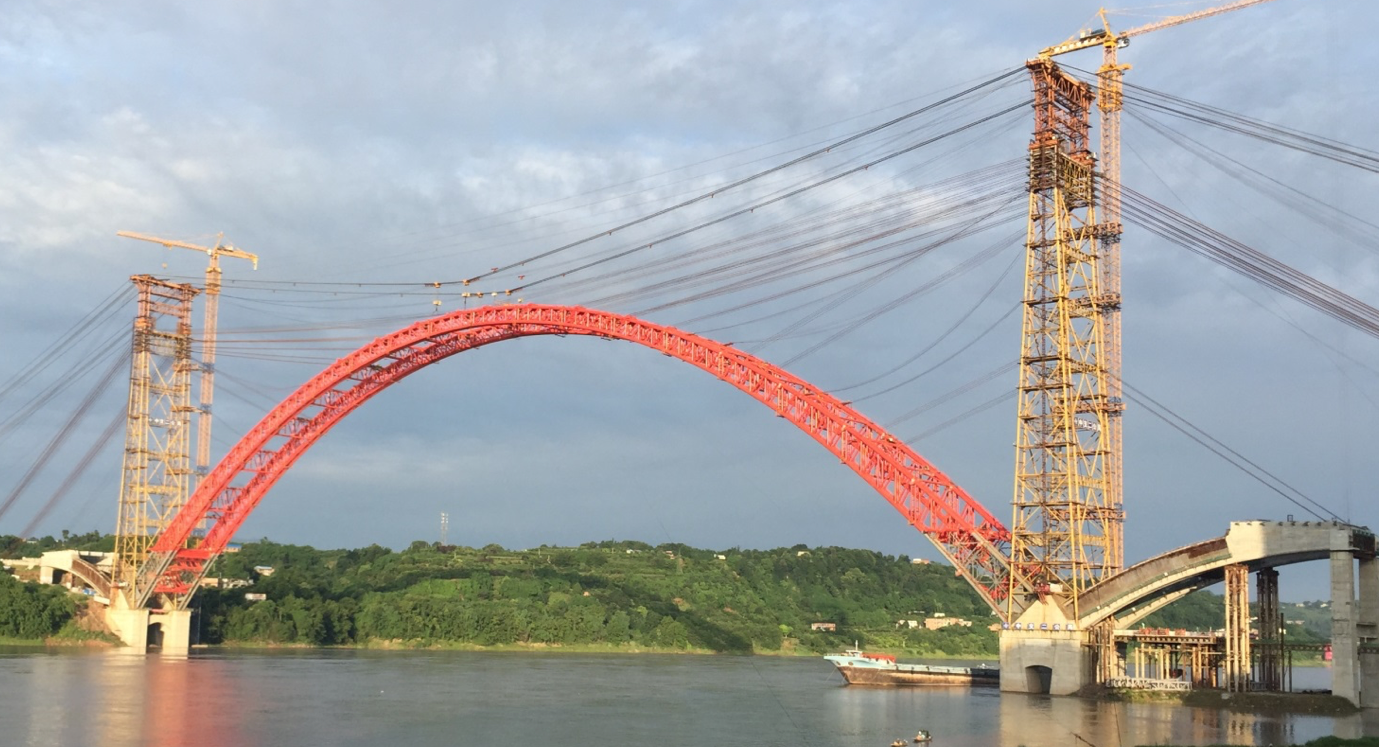 Deck closure completed on China's longest flying-bird arch bridge image