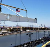 Final beam installed for California's first major cable-stayed bridge image