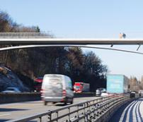 German arch bridge opens to traffic image