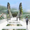 Glass-decked bridge nears completion in China image