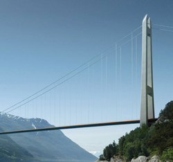 Hardanger Bridge construction image