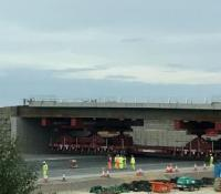 Installation of twin 1,000t bridges finishes ahead of schedule image