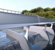Milestone reached on footbridge over Leeds weir image