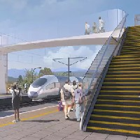 Network Rail moves forward with composite footbridge image