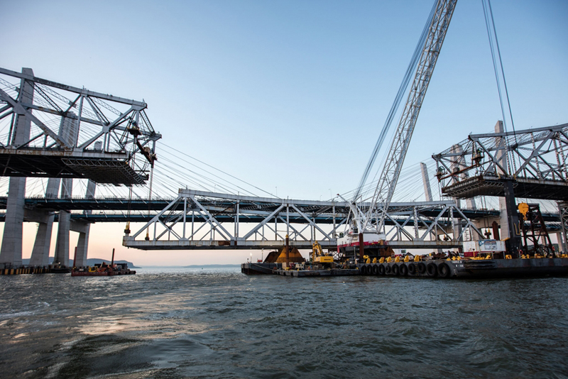 Old Tappan Zee bridge span demolished