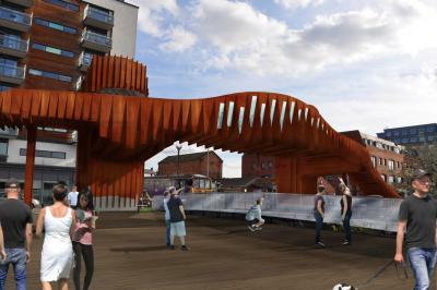 Plans unveiled for Lincoln footbridge image