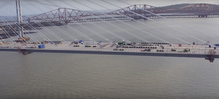 Queensferry cantilevers break records image