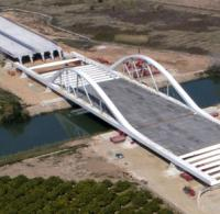 Spanish arch bridge launched using cost-saving method image