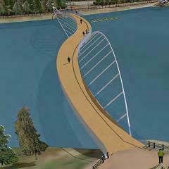 Three designs shortlisted for Northern Ireland footbridge image