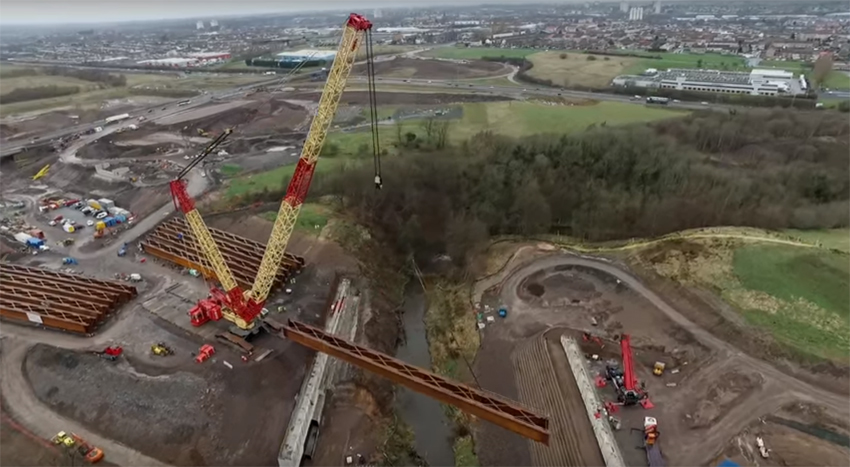 Timelapse of big Scottish beam lift image