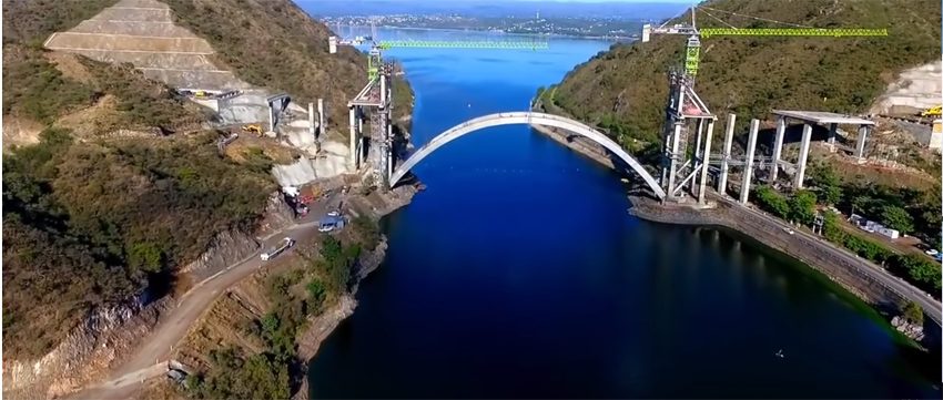 Video showing some of the construction phases of the recently completed José Manuel de la Sota Bridge in Argentina image
