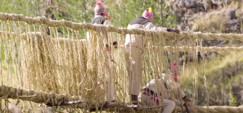 Weaving a bridge in Peru