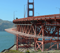 Work begins on Golden Gate Bridge suicide-deterrent system image