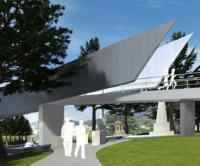 Site work begins for Hobart pedestrian bridge logo