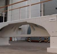 Japanese contractor showcases 3D-printed concrete bridge logo