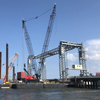 Lift span installed to serve Palm Beach bridge reconstruction project logo