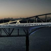 Shortlist picked for pathway alongside Auckland Harbour Bridge logo