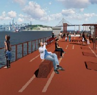 Recreational areas to be built across Bay Bridge piers logo