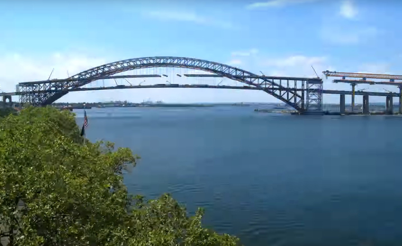 Watch the roadway being raised on Bayonne Bridge timelapse logo