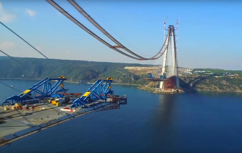 yavuz sultan selim bridge construction views bridge design engineering bd