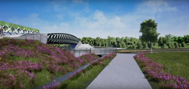 See a fly-through of the proposed bridge in Cambridge, England logo