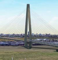 Cable-stayed bridge included in Edmonton light rail scheme logo
