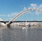 Three-arch design chosen for Frederick Douglass Memorial Bridge logo