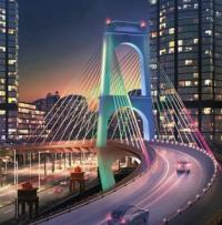 Contracts awarded for Qatar bridge logo