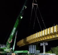 Installation of UK motorway bridge completed in 24 hours logo