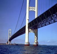 Mackinac Bridge to be fitted with vibration-powered sensors logo