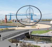 Work begins on Middlesbrough lifting bridge logo