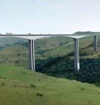 Violent protests force delays on flagship South African bridge project logo