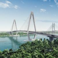 Construction begins of Vietnamese cable-stayed bridge logo