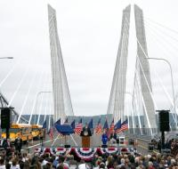Replacement of Tappan Zee Bridge opens logo