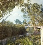 Consultation begins on diagonal arch bridge logo