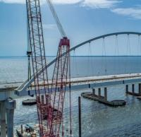 First arch installed for new Pensacola Bay Bridge logo