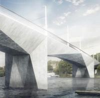 Cubist design wins Prague bridge competition logo