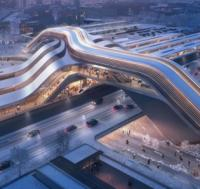 Winning design for Tallinn rail terminal doubles as a bridge logo