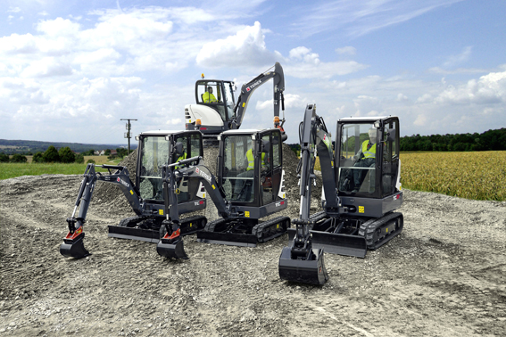 New compact diggers set for Bauma launch logo