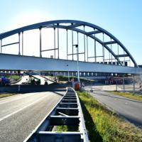 Rail bridge installed to serve Port of Rotterdam logo