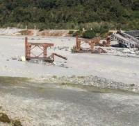 New Zealand government issues statement on washed-away bridge logo